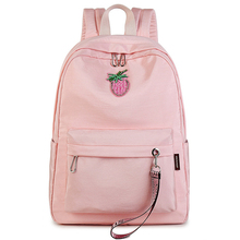 Fashion Casual Waterproof Large Capacity Women Backpack Cute Pink Strawberry Pattern Printing Travelling Girls Back Bags