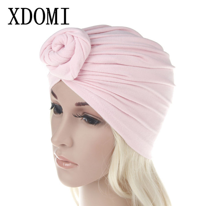 XDOMI 2017 Women India Hat Cotton Female   Skullies     Beanie   Warm Knitted Hats Muslim Soft Cap High Quality Winter Girls Casual Caps