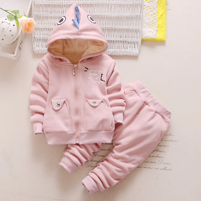 2 pcs baby girl winter jacket infant clothing set boys winter coats girls thick warm hooded pink coat baby long pants trousers new baby set 2015 winter baby girl clothes cartoon coat thick warm coat pants warm winter outerwear jacket clothing sets