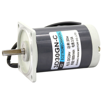 30W permanent magnet DC motor, 12V 24V high speed small motor, CW/CCW adjustable speed motor, 3D30GN-C small generator
