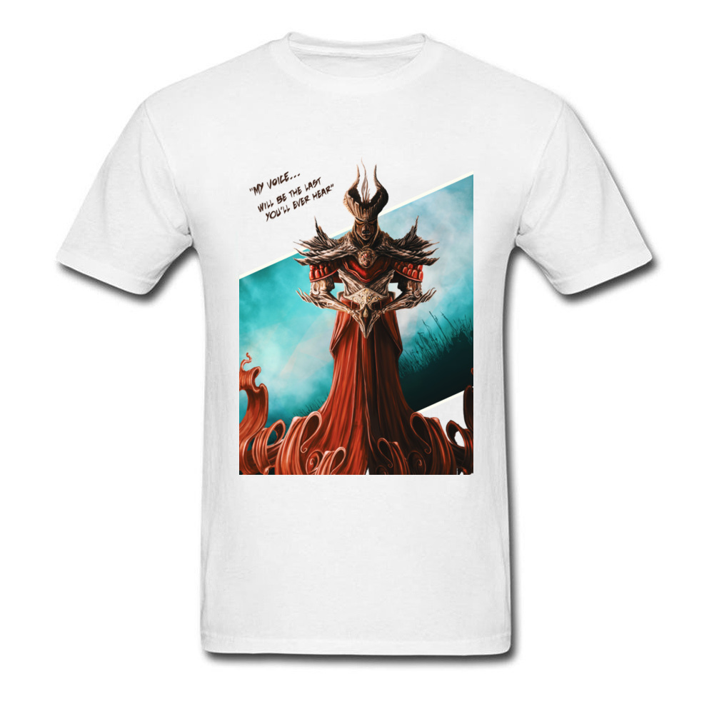 2018 Fashion Men T-shirt My Voice Will Be The Last Youll Hear Retro Chic Male White Tee Shirts Ancient Warrior Print
