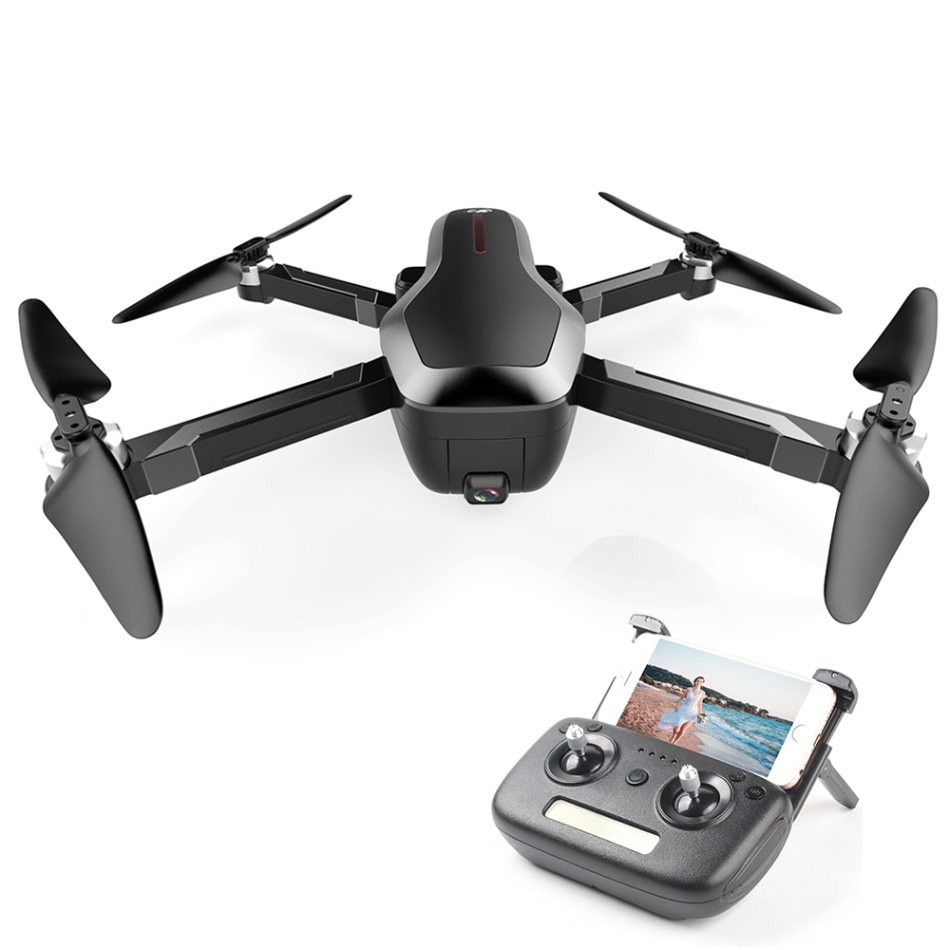 Foldable Drone with 4K Camera 5G Wifi FPV Brushless Auto Return Optical Flow Positioning Gesture Photo MV Editing GPS Quadcopter