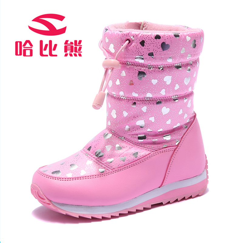 Russia Winter Warm Boots Children Boots Heart Pattern Waterproof Lace Up  Kids Shoes Girls Boys Snow Boots Perfect for Kids Shoes-in Boots from Mother    Kids ... 695e70c5ddd2