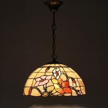 Тиффани украшения дома цветок столовая подвесной светильник красочный стекло кафе подвесной светильник D400MM бесплатная доставка