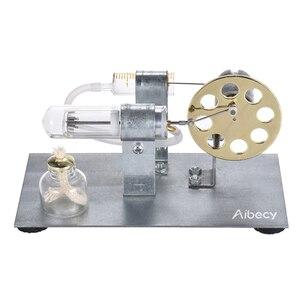 Image 3 - Миниатюрная модель двигателя Aibecy с горячим воздухом для экспериментов по физике, образовательная игрушка