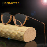 HDCRAFTER Flexible Frame Man Glasses Optical Eyeglasses Wood Retro Vintage Half Frames For Men Women Reading