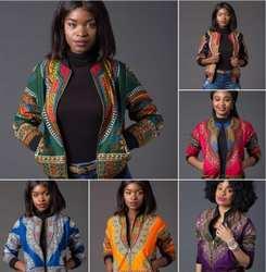 2018 африканская традиционная Ретро Этническая африканская Дашики модная куртка африканская куртка с принтом на молнии