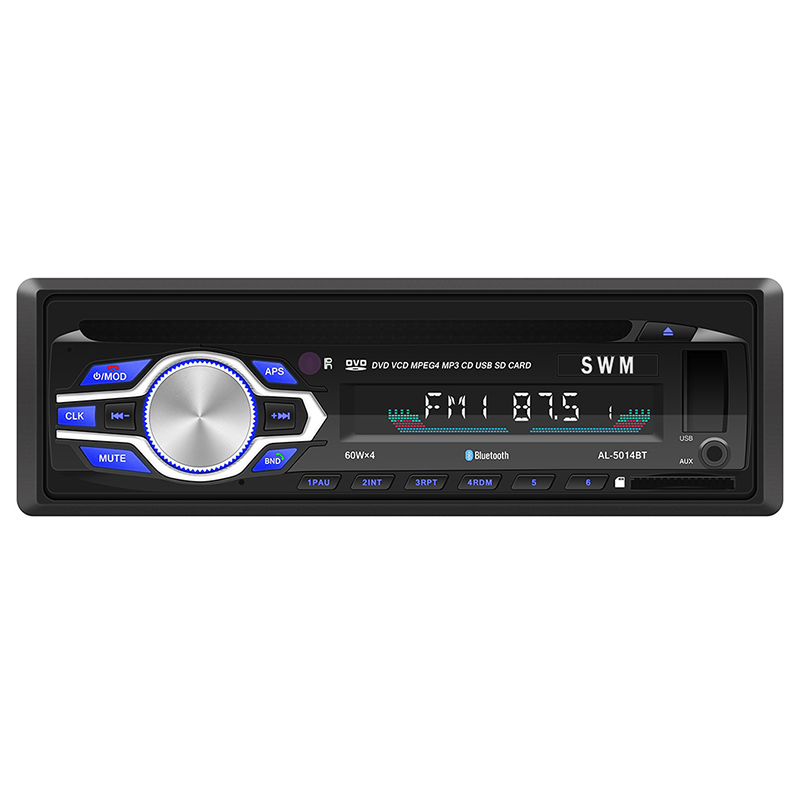 Lecteur MP3 Bluetooth pour voiture récepteur d'entrée Aux stéréo intégré au tableau de bord lecteur Radio USB FM avec Support micro appels mains libres lecteur DVD