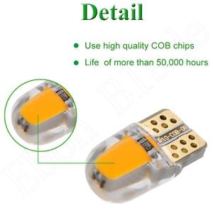 Image 4 - 2/4 Uds., luz Led para coche T10 W5W 12V 194 168 2825, bombillas de luces de silicona Cob, Bombilla Interior para coche, ámbar, amarillo, naranja, rojo, blanco