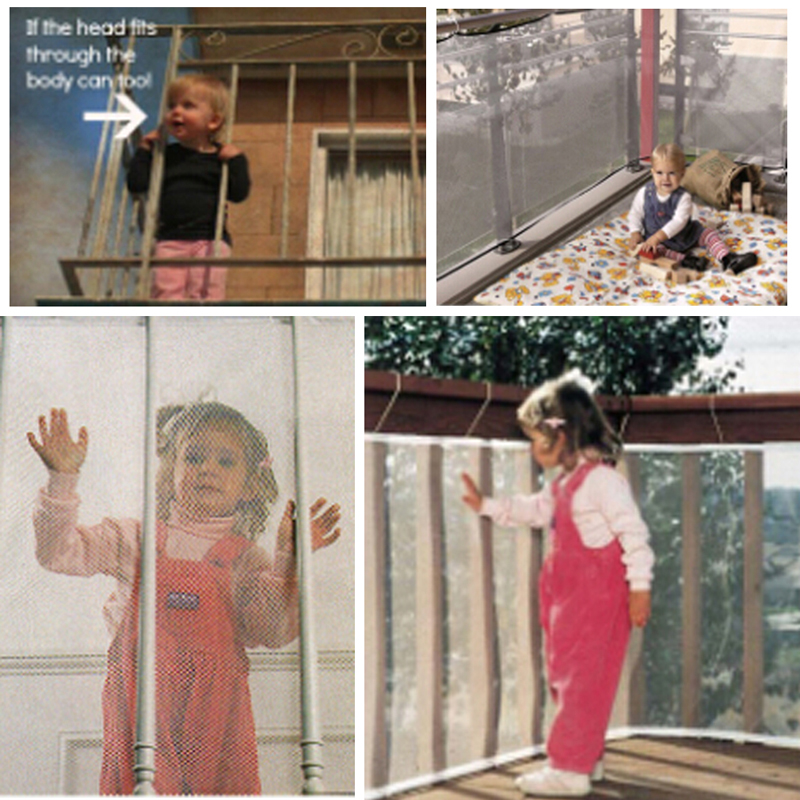 New Baby Safety Fence Children Transparent Thickening Fencing Protect Net Balcony Child Fence Safety Net For Balcony