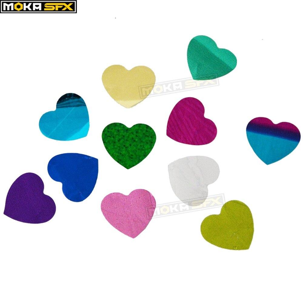 10kg/lot Bright Confetti Paper Hearts For Stage Confetti Blaster Wedding Suit Confetti Machine