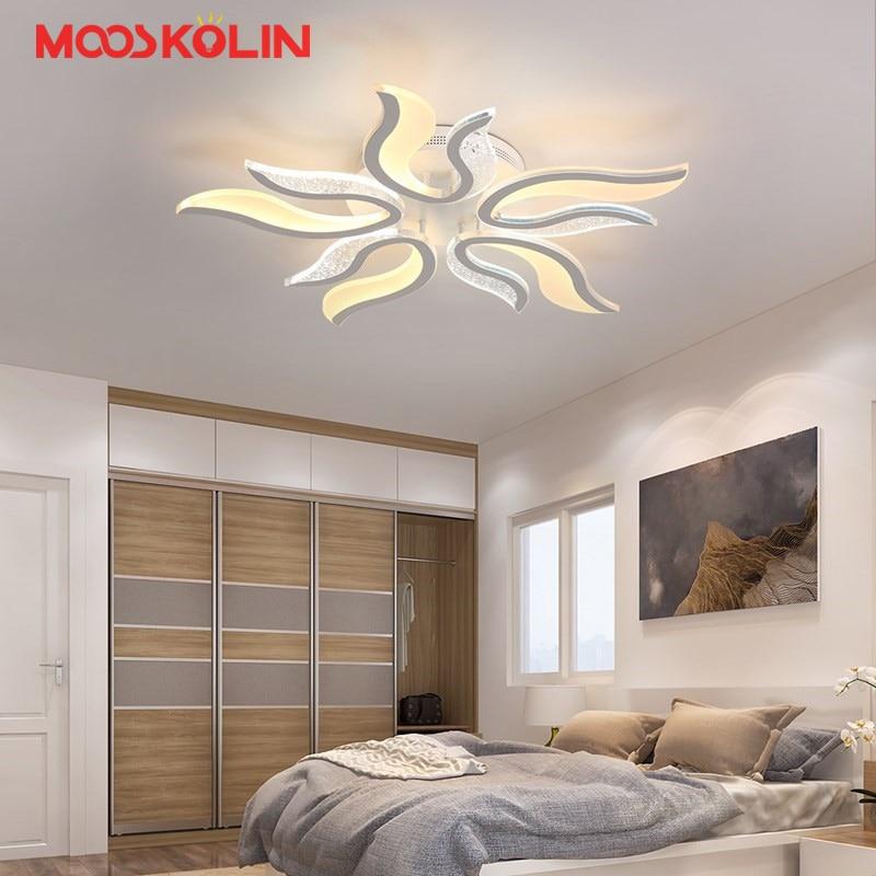 Neue Weiße Led Moderne Kronleuchter Lamparas Lampe Für Schlafzimmer  Wohnzimmer Leuchte Innenbeleuchtung Kronleuchter Deckenleuchten