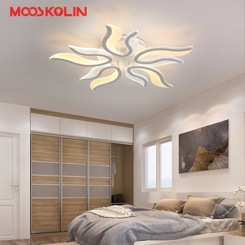 Nuevos Candelabros Blancos Led Modernos Lamparas Lámpara Para Dormitorio Sala De Estar Luminaria Iluminación Interior Candelabros Accesorios De Techo