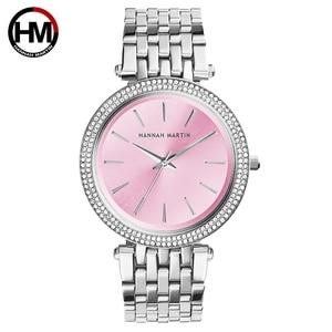 Image 4 - Women Top Brand Luxury Quartz Movement Watches Fashion Business Stainless Steel Diamond Dial Waterproof Ladies Wristwatches
