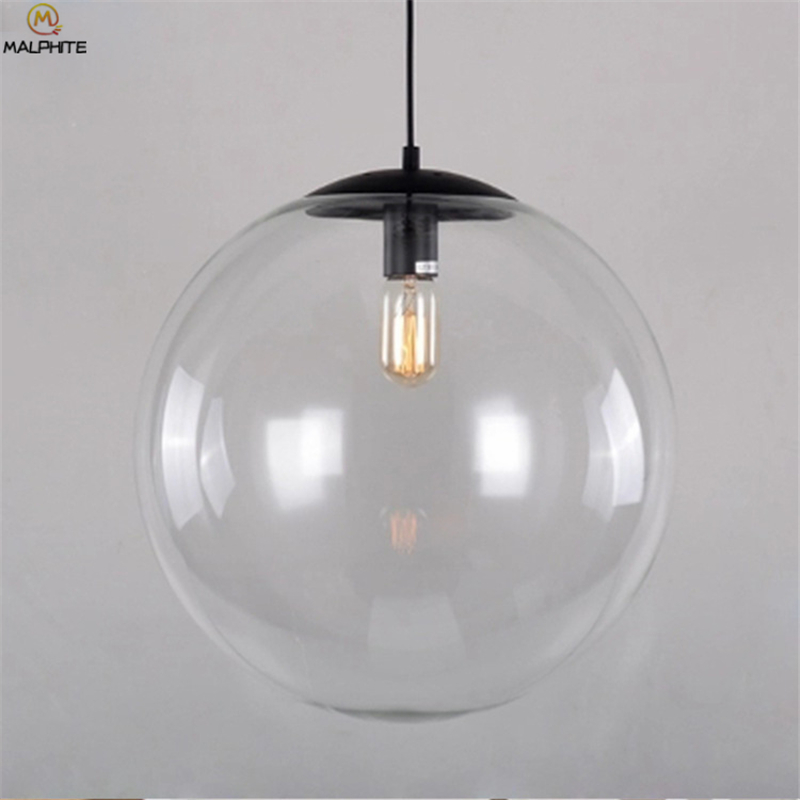 Nordic Glass Ball Pendant Lights Restaurant Bar Industrial Lighting Pendant Lamp Modern Simple Kitchen Fixtures Luminaria