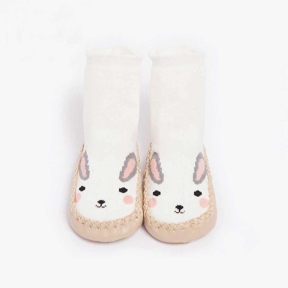 Зимние теплые носки для маленьких девочек и мальчиков толстые теплые нескользящие носки с рисунками животных для маленьких мальчиков мягкие носки