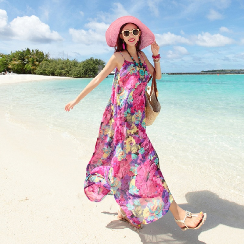 NEW SUMMER WOMENS DRESSES BOHEMIAN BEACH DRESSES MATERNITY DRESSES PREGNANCY DRESS WOMENS SUMMER CLOTHING BRACES SKIRT1719