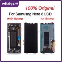 WITRIGS для samsung Note 8 ЖК дисплей Note8 сенсорный экран дигитайзер с рамкой в сборе запасные части