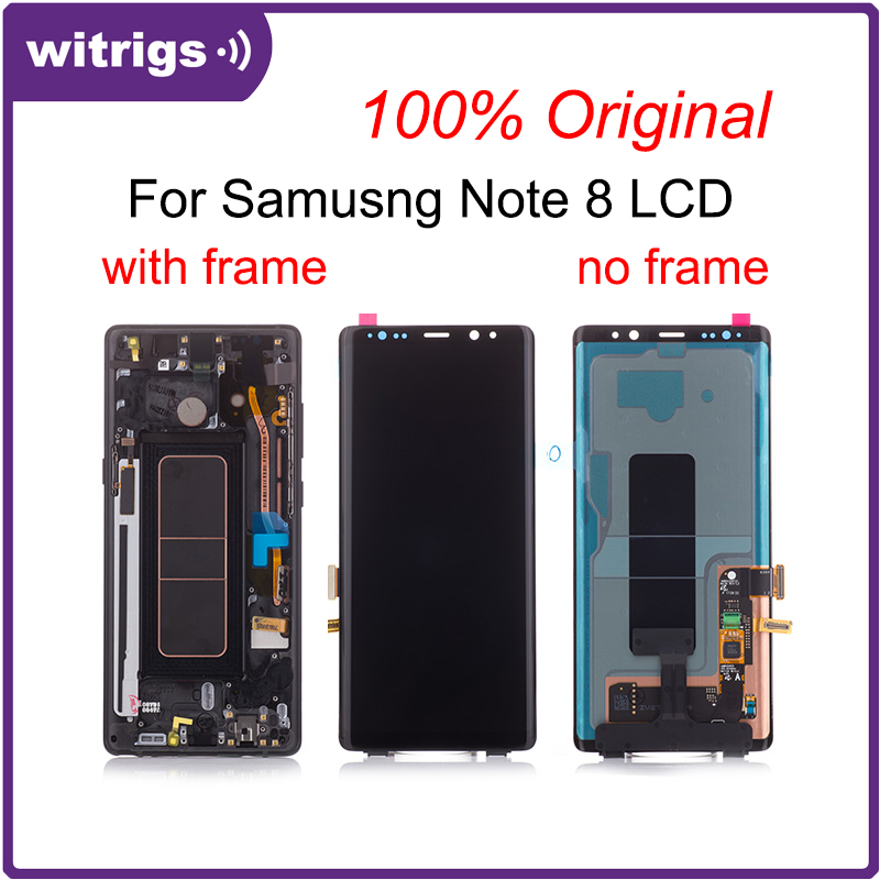 WITRIGS For <font><b>Samsung</b></font> <font><b>Note</b></font> <font><b>8</b></font> <font><b>LCD</b></font> <font><b>Display</b></font> Note8 Touch Screen Digitizer with Frame Assembly Replacement Parts image