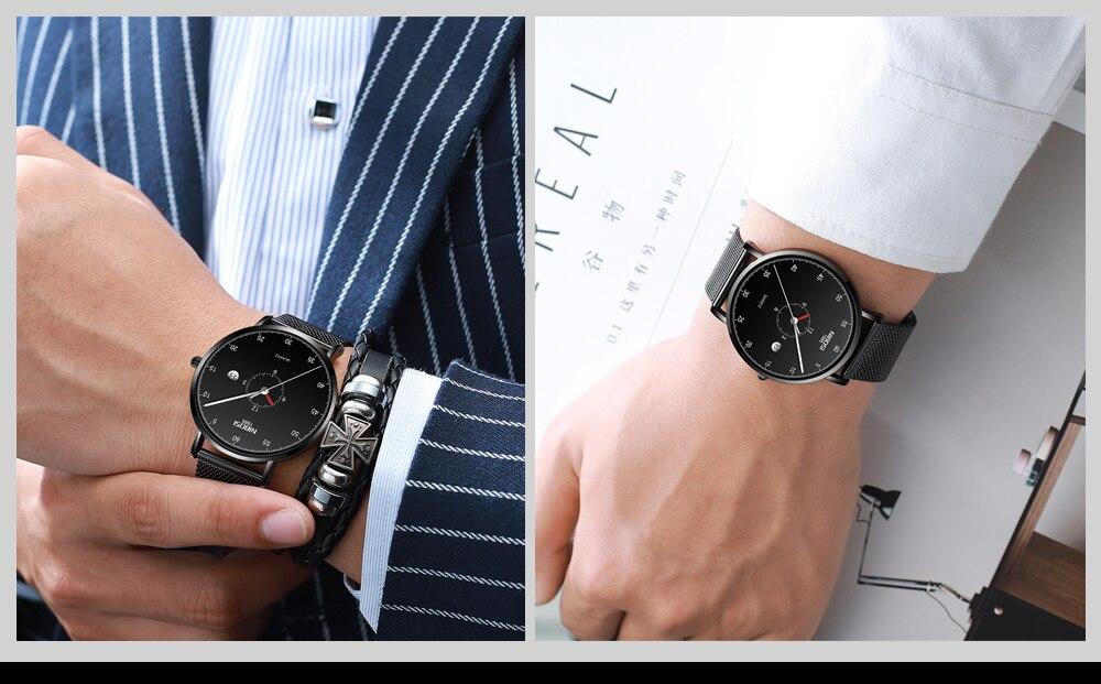 Erkek Kol Saati NIBOSI Men Watch Women Top Brand Luxury 2019 Thin Watches For Men Waterproof Black Wristwatch Female (7)