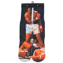 Famous Star Basketball Socks with Printing Novelty Skateboard Socks Men