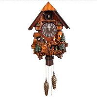 Creative fashion Cuckoo Clock Give the correct time cuckoo Modern Simple Living Room Wall Clock