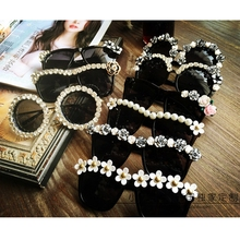 Original 12 Design Fashion women sunglasses Retro Rhinestone
