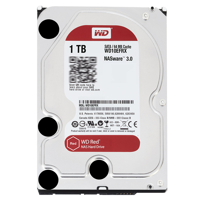 WD10EFRX 1 T stockage réseau 3.5 ''NAS disque dur disque rouge 1 to 5400 tr/min 64 M Cache SATA III 6 Gb/s 1000 GB HDD HD disque dur