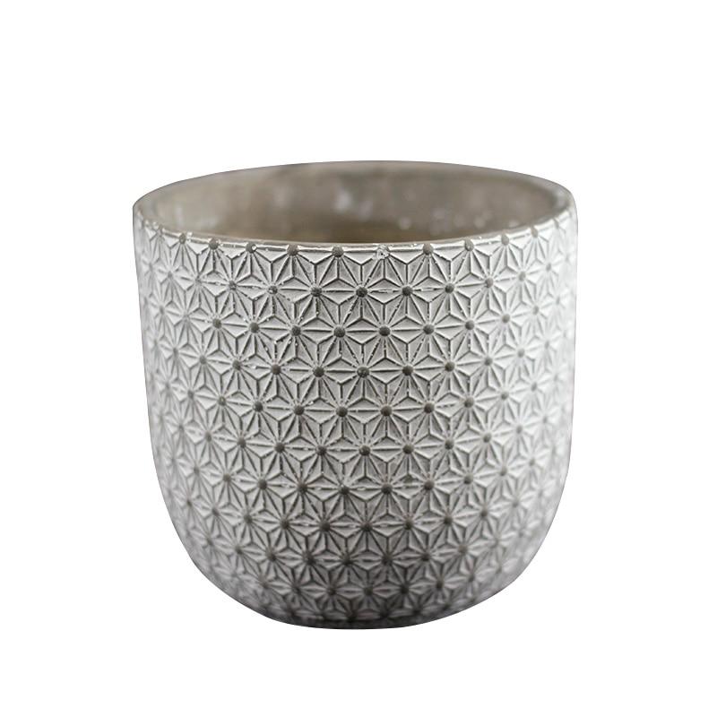 Vase rond En Silicone Moule Béton Pot De Fleurs Moule Métier Fait Main Ciment Planteur Outil