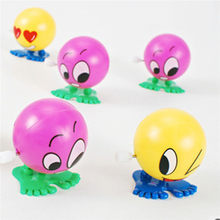 Wind up Toy For Children Baby Spring Toys Friendly Environmental Materials Colorful Funny Face Somersault Running Clockwork(China)