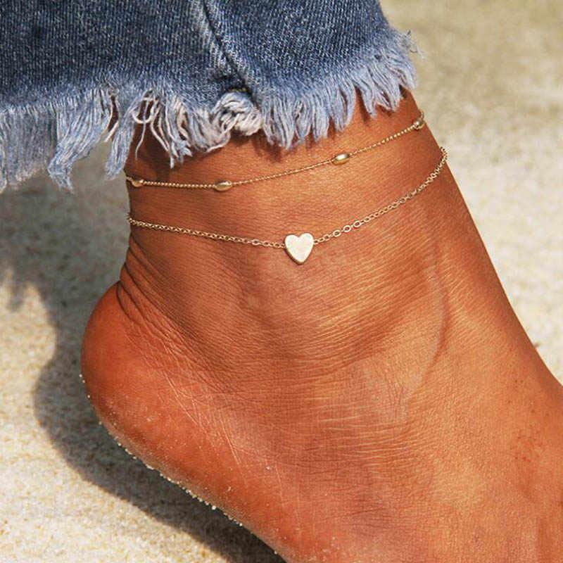 XIYANIKE Модный чехол типа «сделай сам женские браслеты для щиколотки для девочек в богемном стиле из коллекции дружбы анклет (браслет на ногу браслет ручной работы на босу ногу вечерние ювелирные изделия подарок пляжные B32
