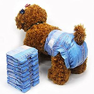Pet Soft Pet Diapers Female Jeans Style Disposable Dog Diaper Puppy Nappies Sanitary Pants