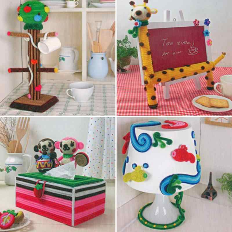 100 יח'\סט חינוכיים צעצוע מונטסורי חומרים שניל צבעוני צינור שואב בעבודת יד תינוק קטיפה DIY קרפט צעצועים לילדים