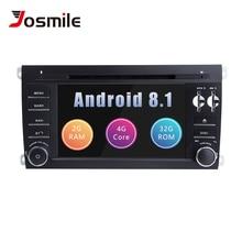 2 Din Android 8,1 DVD мультимедиа плеер для Porsche Cayenne радио 2003 2004 2005 2006 2007 2008 2009 2010 955 мм головное устройство