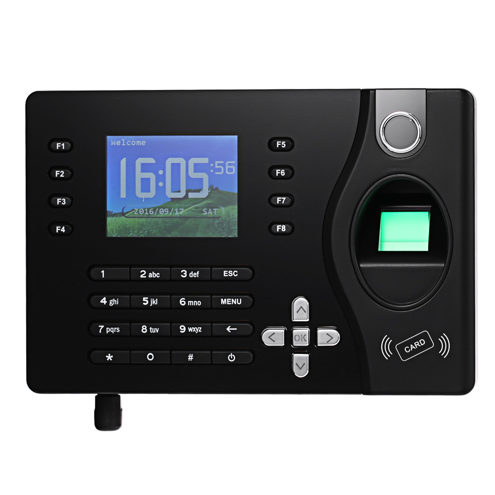 Realand TCP/IP RFID Card & Fingerprint Time clock Recorder Employee time attendance system Support Arabic Spanish Language k14 zk biometric fingerprint time attendance system with tcp ip rfid card fingerprint time recorder time clock free shipping