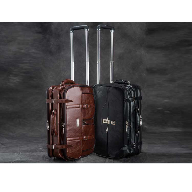 BeaSumore High grade Classic Retro Suitcase wheels Trolley Travel Bag Rolling Luggage Spinner Women Men 18 inch Cabin Trunk