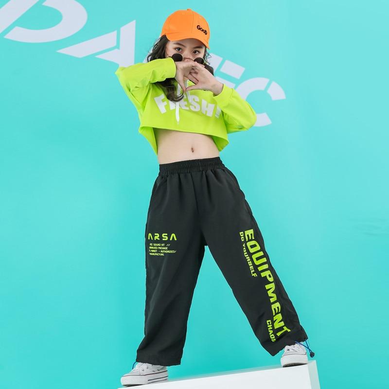 Image 5 - Newborn girls clothes  sets hip hop hoodie kids  dance costumes jazz summer baby girls clothing set childrens clothing 160 140Clothing Sets   -