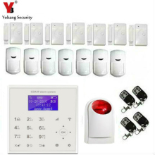 YobangSecurity Wireless WiFi GSM SMS Home Business Burglar Security Alarm System with Touch Keypad Auto Dial Wireless Siren