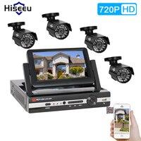 4CH AHD 720P CCTV System AHD DVR HDMI 4PCS IR Bullet In Outdoor CCTV Camera Home