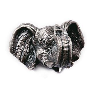 Elephant Head Tirones del cajón Perillas de Puerta Del Armario Kids Animal de Plata Antiguo Tiradores Kids Dresser Perillas y Tiradores