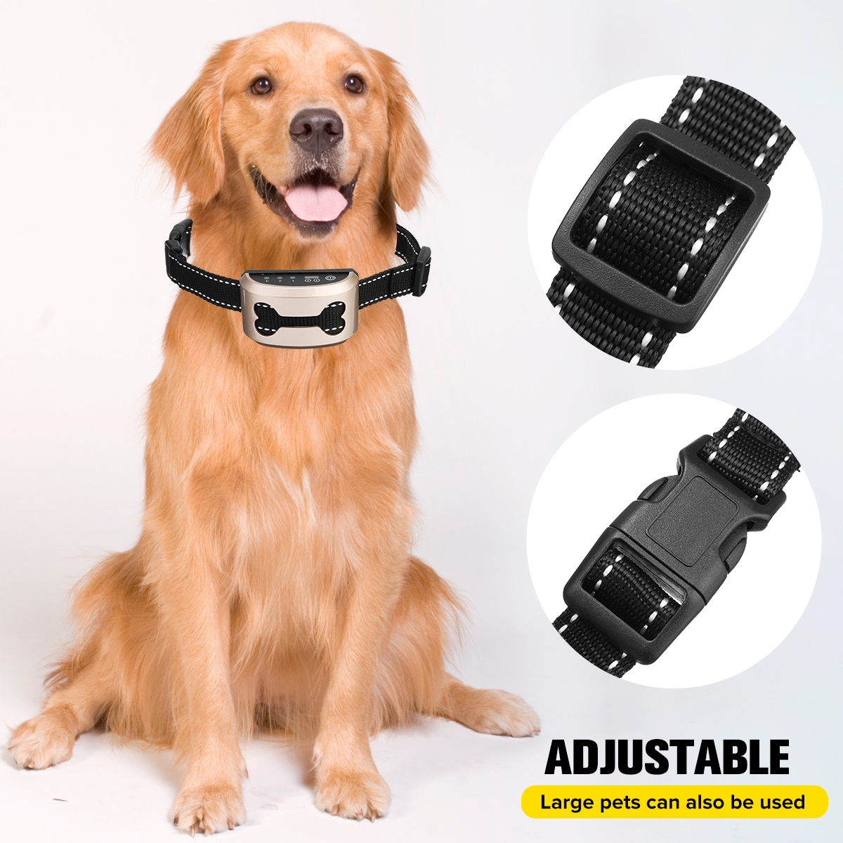 Rechargeable and Anti Bark Dog Shock Collar for Dog Training with Remote and Voice Control 1