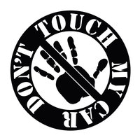 15.2CM*15.2CM Don't Touch My Car JDM Vinyl Decal Sticker Car Styling Accessories Black/Sliver C8-1345