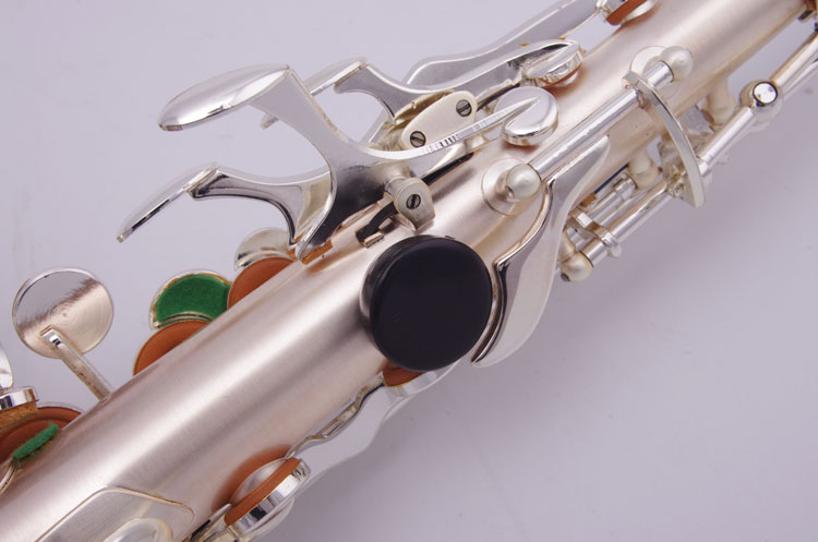 Cadeson S-209BSS B Flat Silver Plated Soprano Saxophone Brand Instrument Small Curved Neck Abalone Shell Decorative Buttons Sax