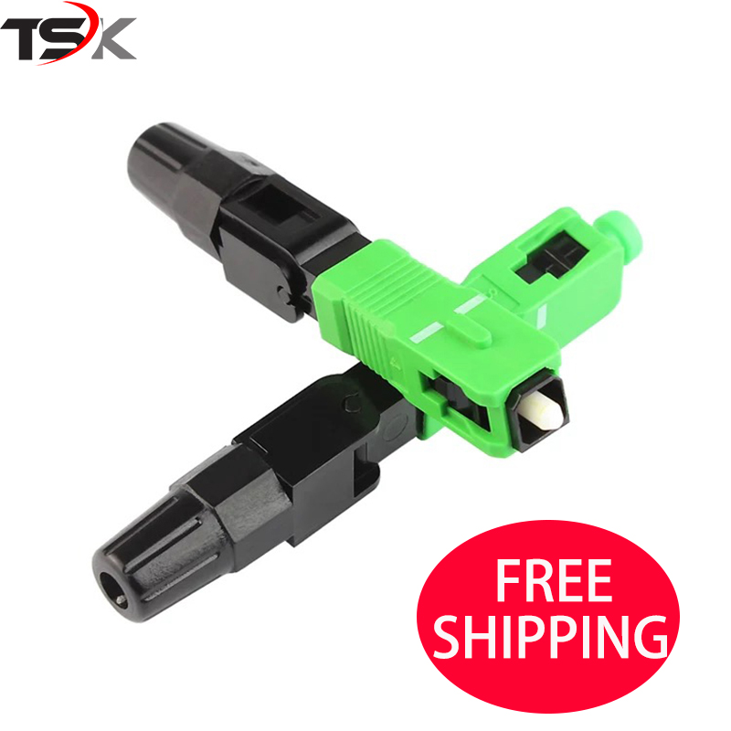 100PCS/box FTTH SC APC single-mode fiber optic SC APC quick connector SC APC FTTH Fiber Optic Fast Connector Free shipping100PCS/box FTTH SC APC single-mode fiber optic SC APC quick connector SC APC FTTH Fiber Optic Fast Connector Free shipping