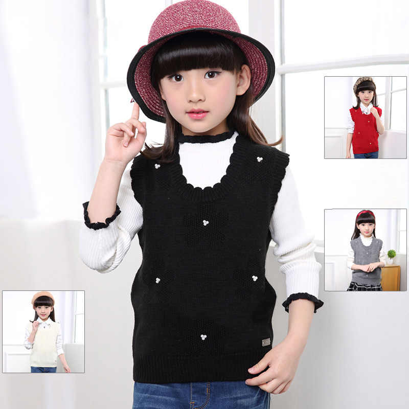 2018 Children's Sweaters Waistcoat Flower Girls Knitted Vest Spring and  Autumn Kids Girls Clothing BC283|Vests| - AliExpress