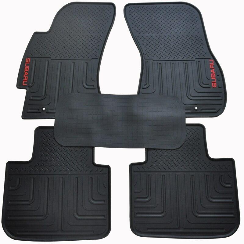 5seats waterproof green senior environmental latex car floor mats for subaruoutback rubber mats. Black Bedroom Furniture Sets. Home Design Ideas