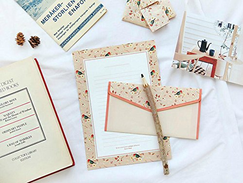 9pcs/lot Lovely Writing Stationery Paper with envelopes for invitation letter paper Envelope Seal Sticker School Office Supplies 3