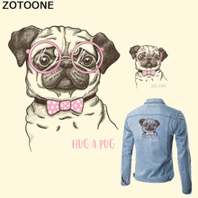 ZOTOONE Dog Patch HUG A CUP T-shirt Transfer Paper Iron on A-level Washable Patches for Clothing Heat Press Appliqued D