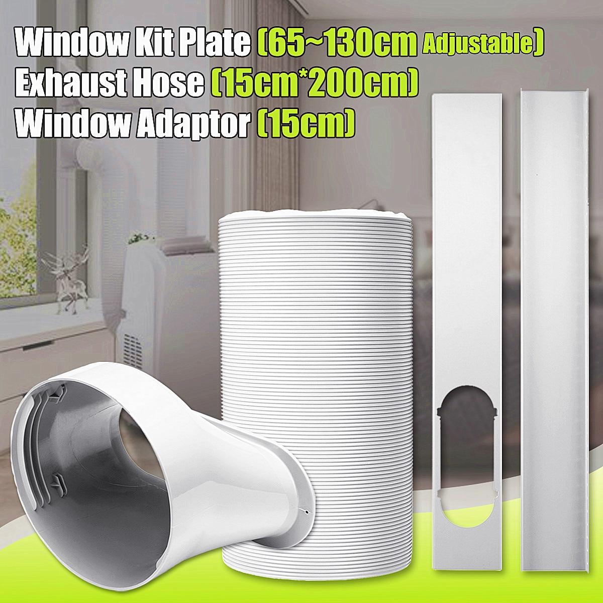 79 Exhaust Hose 6 Diameter For Air Conditioner+Window Adaptor+Window Kit Plate79 Exhaust Hose 6 Diameter For Air Conditioner+Window Adaptor+Window Kit Plate