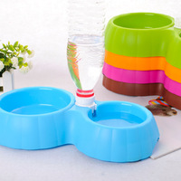 Sale Dual Port Dog Automatic Water Dispenser Feeder Utensils Bowl Cat Drinking Fountain Food Dish Pet